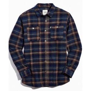 Katin Harold Plaid Sherpa Shirt Jacket